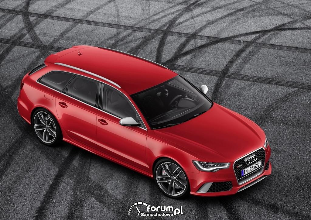 Audi RS 6 Avant quattro, widok z góry z przodu, 2013