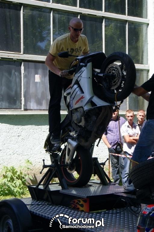 Symulator jazdy na jednym kole