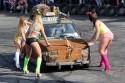 Auto Myjnia Bikini na sucho drucianą szczotką
