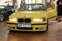 BMW E36 serii 3 coupe, żółte ringi