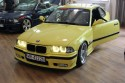 BMW E36 serii 3 coupe, żółte
