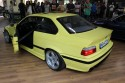 BMW E36 serii 3 coupe, żółte, tył