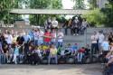 Publiczność przed pokazami stuntu motocyklowego