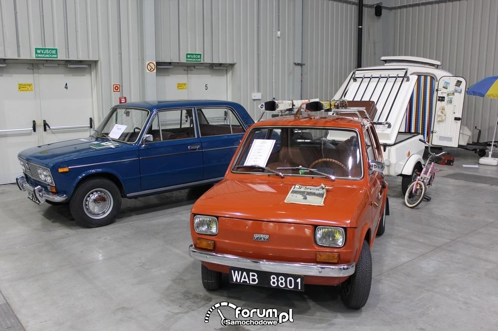 Fiat 126P z przyczepką