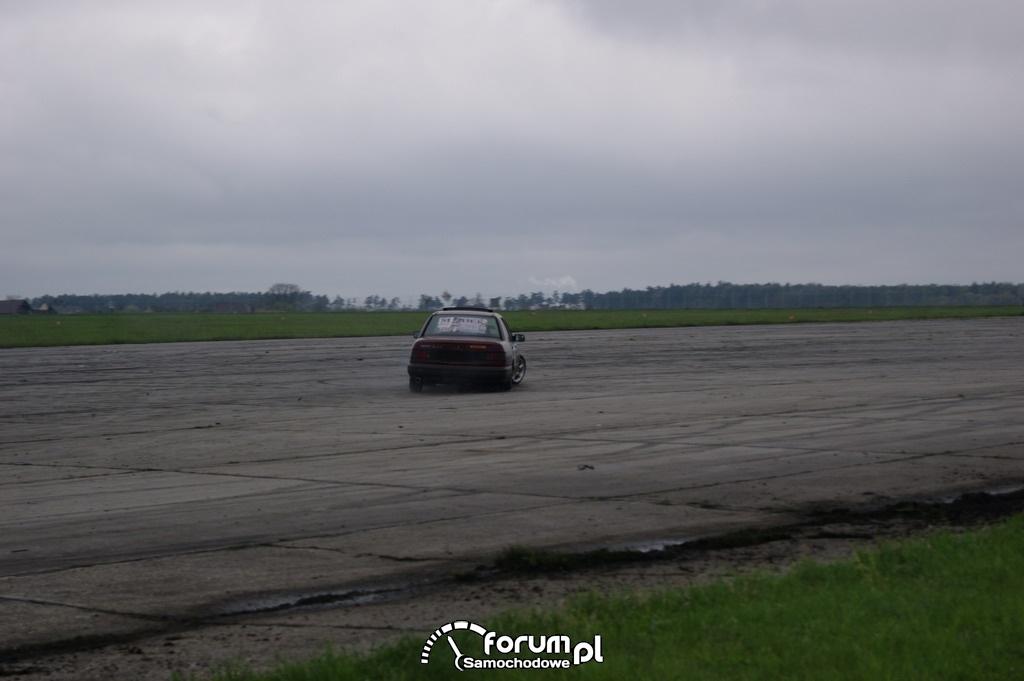 Ford Sierra, lotnisko, drift, 2