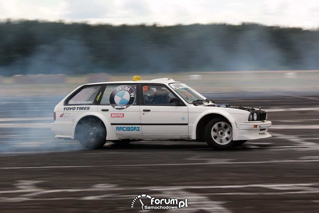 BMW E30 kombi, drift taxi, 8