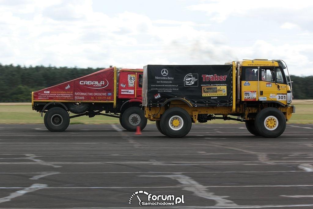 Ciężarówki terenowe w wyścigach równoległych, 2