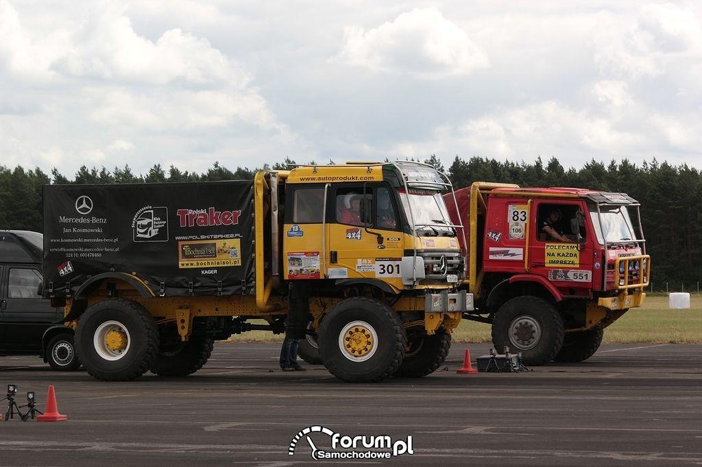 Ciężarówki terenowe w wyścigach równoległych