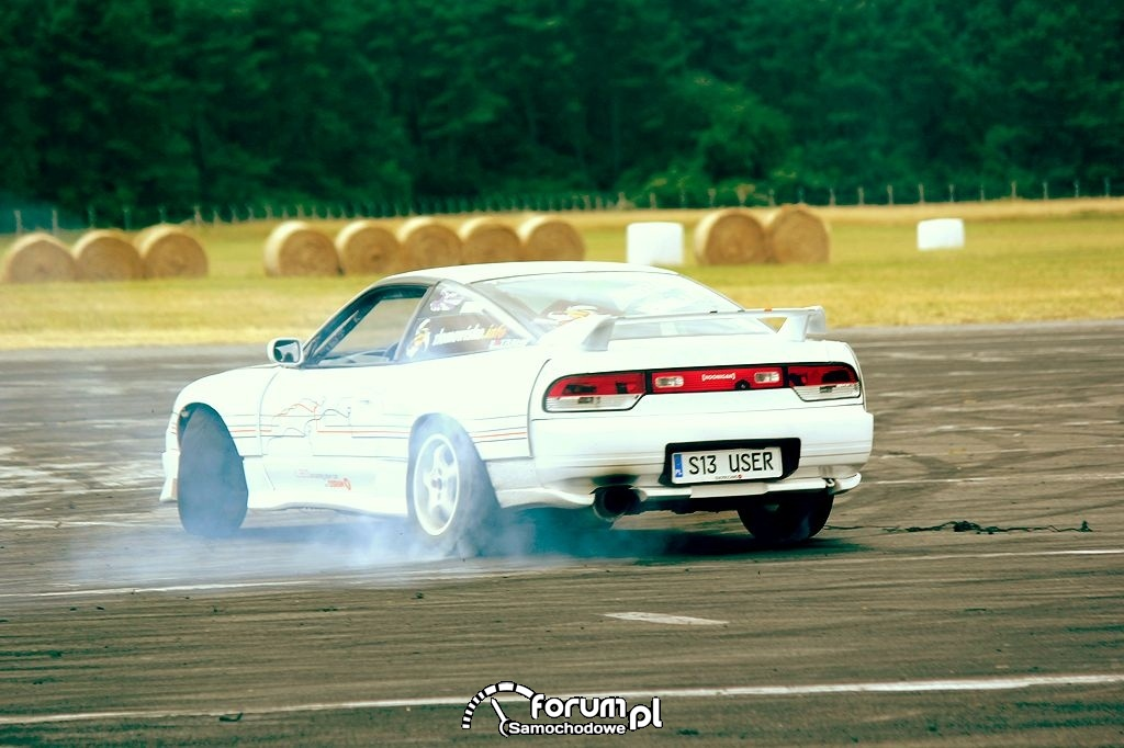 Nissan 200SX s13, biały, drift, 2