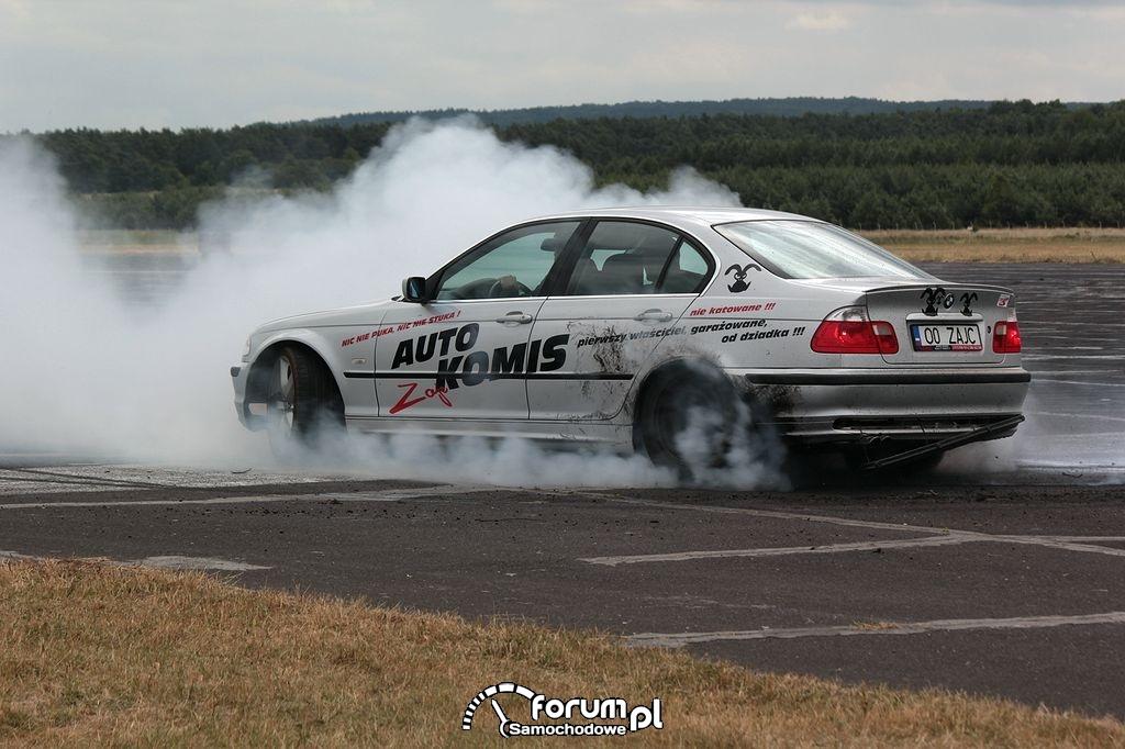 Palenie gumy, BMW E46