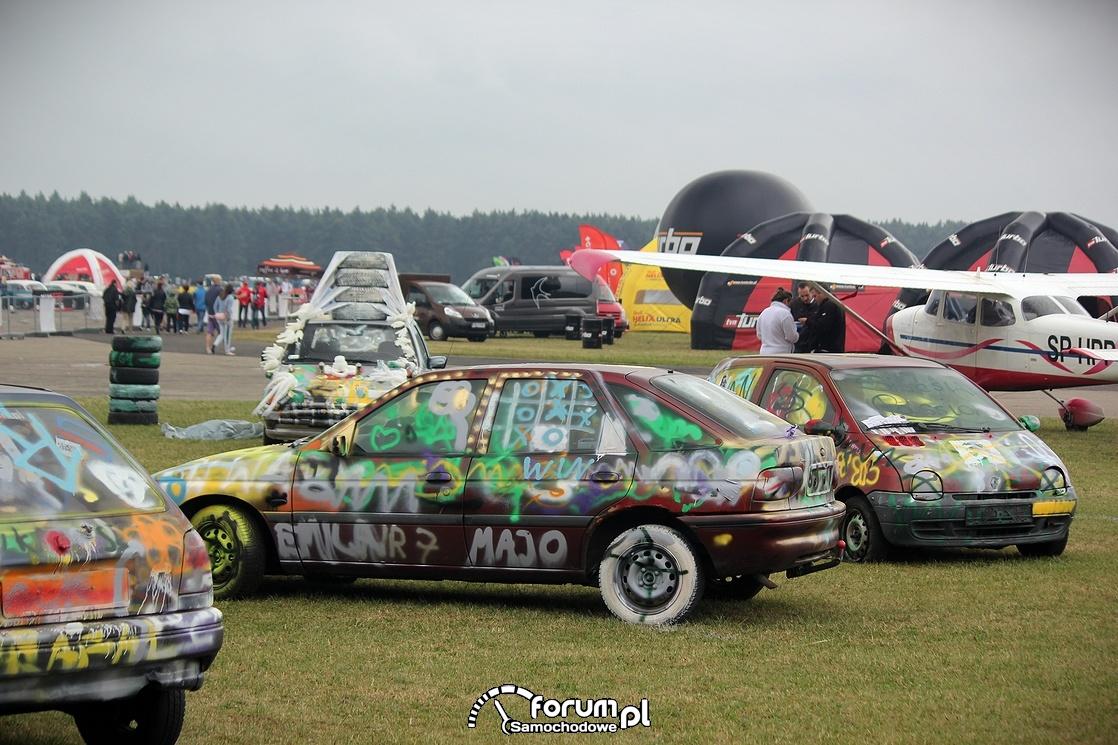 Graffiti na samochodach odobowych