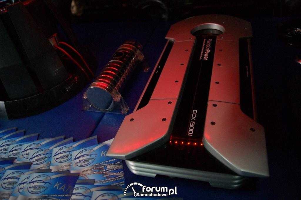 Fiat Punto II, zabudowa bagażnika, wzmacniacz, Car audio