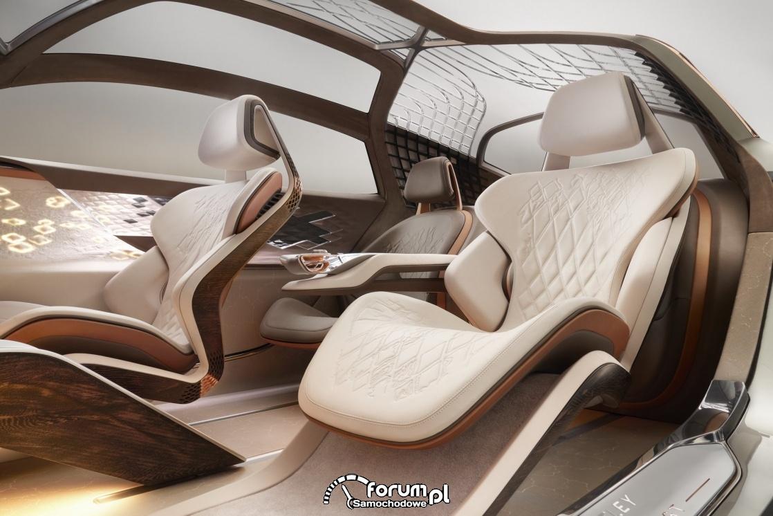 Bentley EXP 100 GT, wnętrze, fotele
