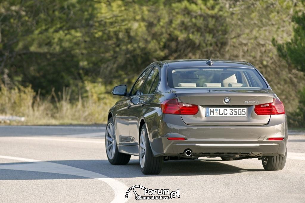 BMW 320d - seria 3 - widok z tyłu