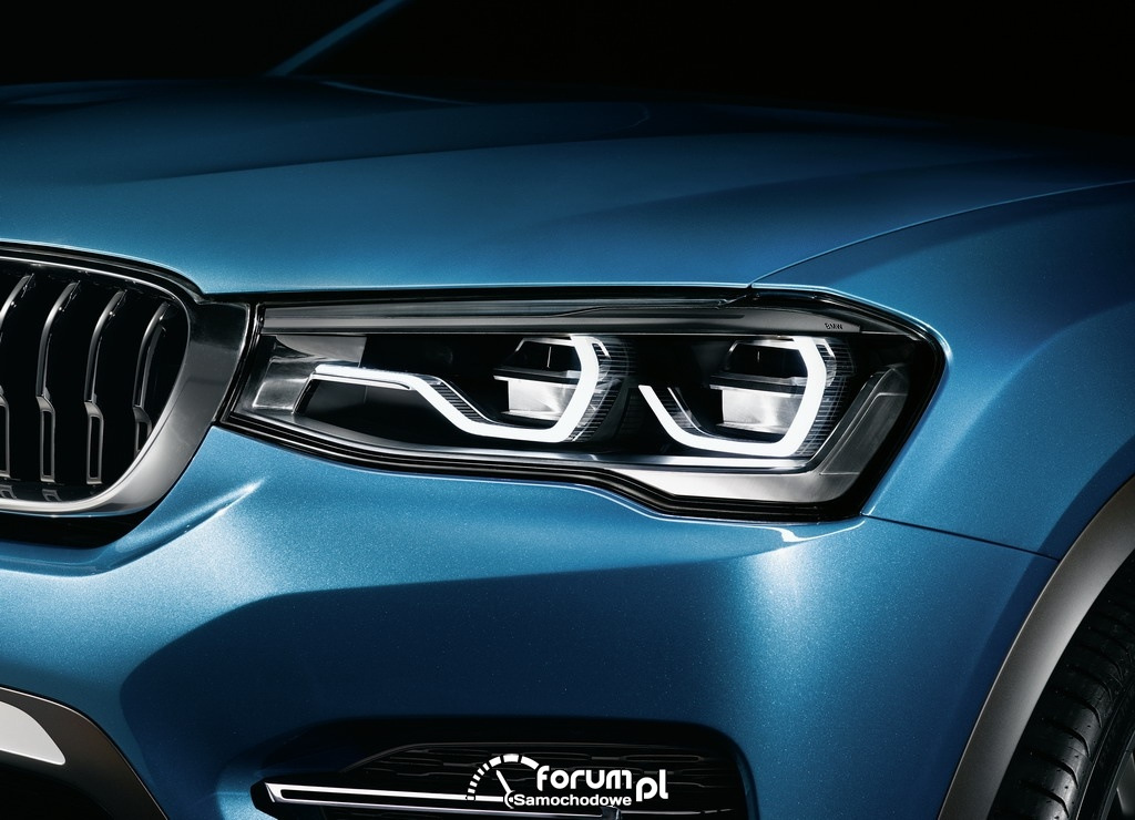 BMW Concept X4, Sports Activity Coupe, przednia lampa LED