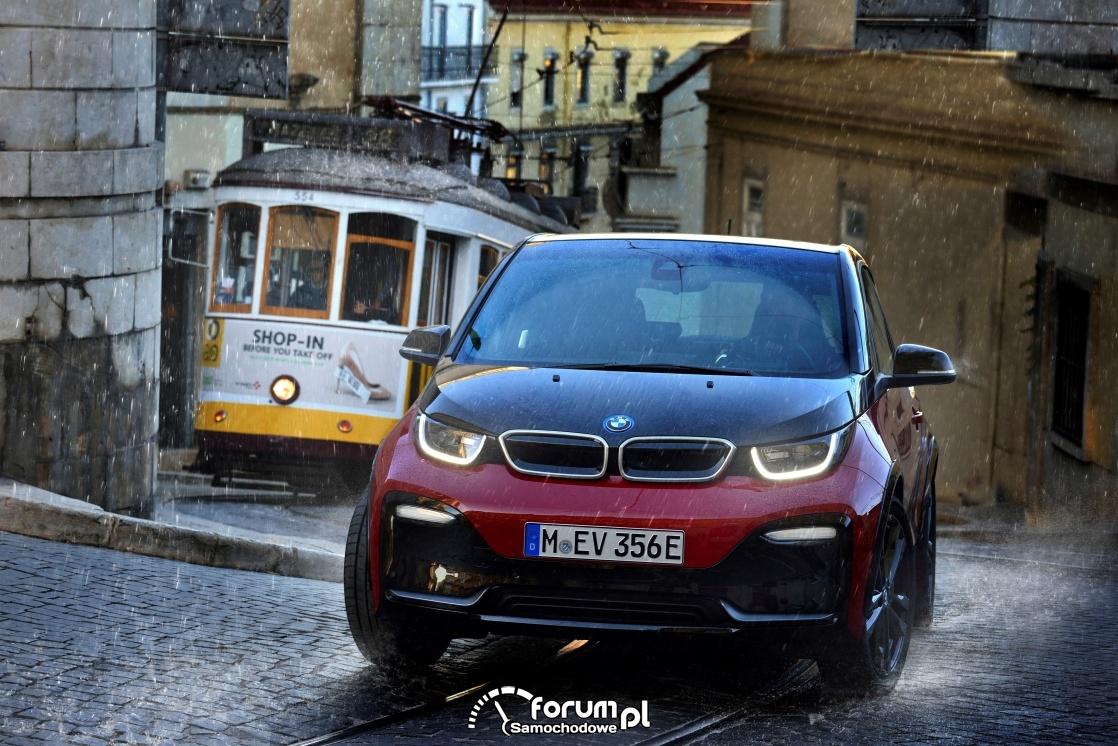 BMW i3, deszcz