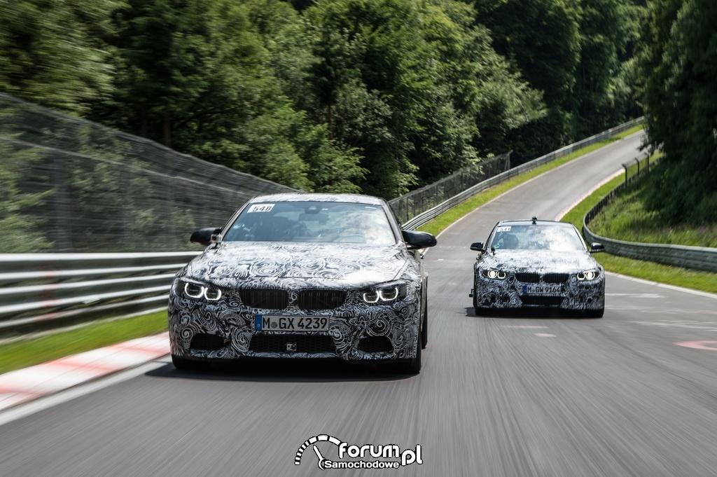 BMW M3 Limuzyna i BMW M4 Coupe, Test na torze wyścigowym na Nuerburgring Nordschleife