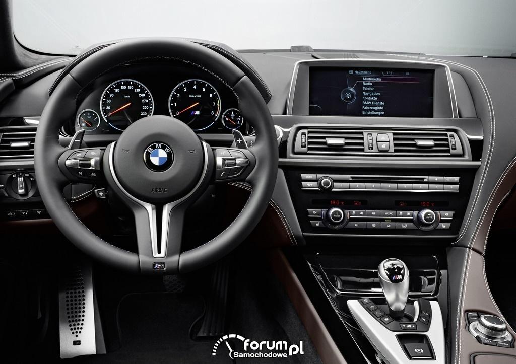 BMW M6 Gran Coupe, deska rozdzielcza