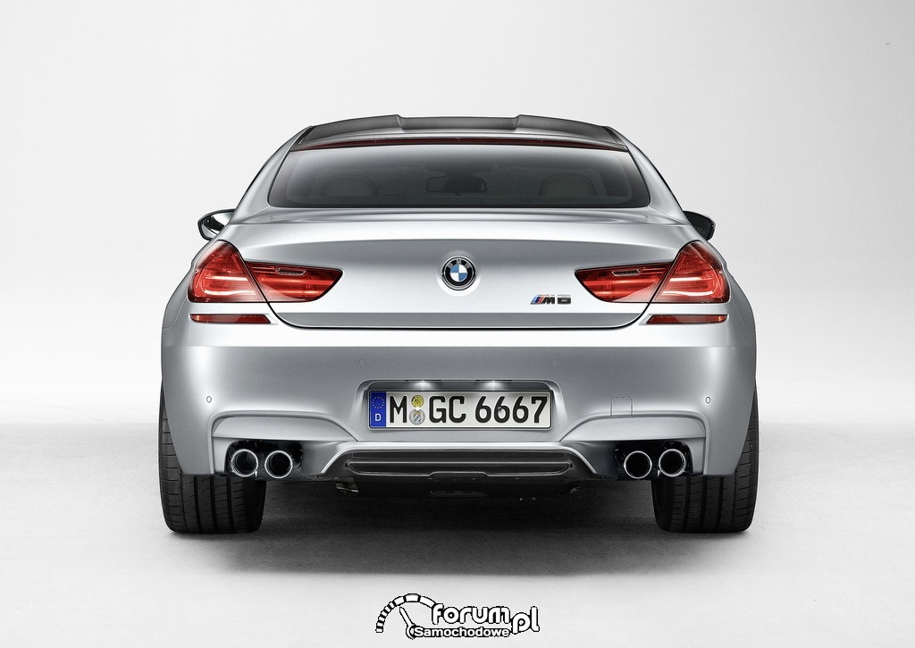 BMW M6 Gran Coupe, tył