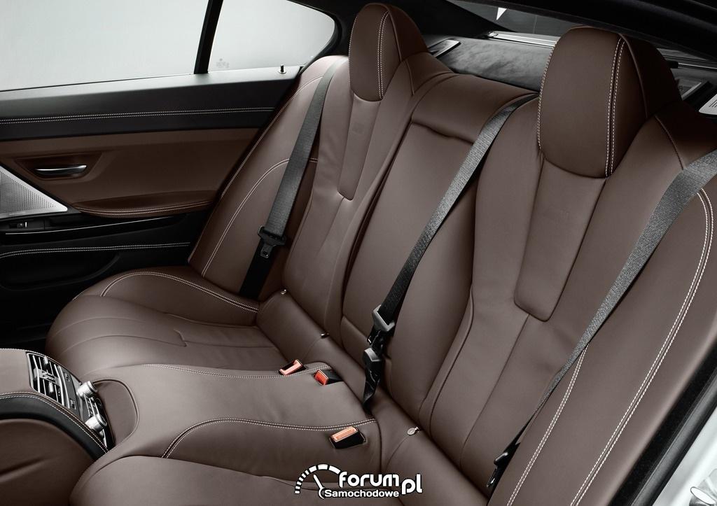 BMW M6 Gran Coupe, tylna kanapa