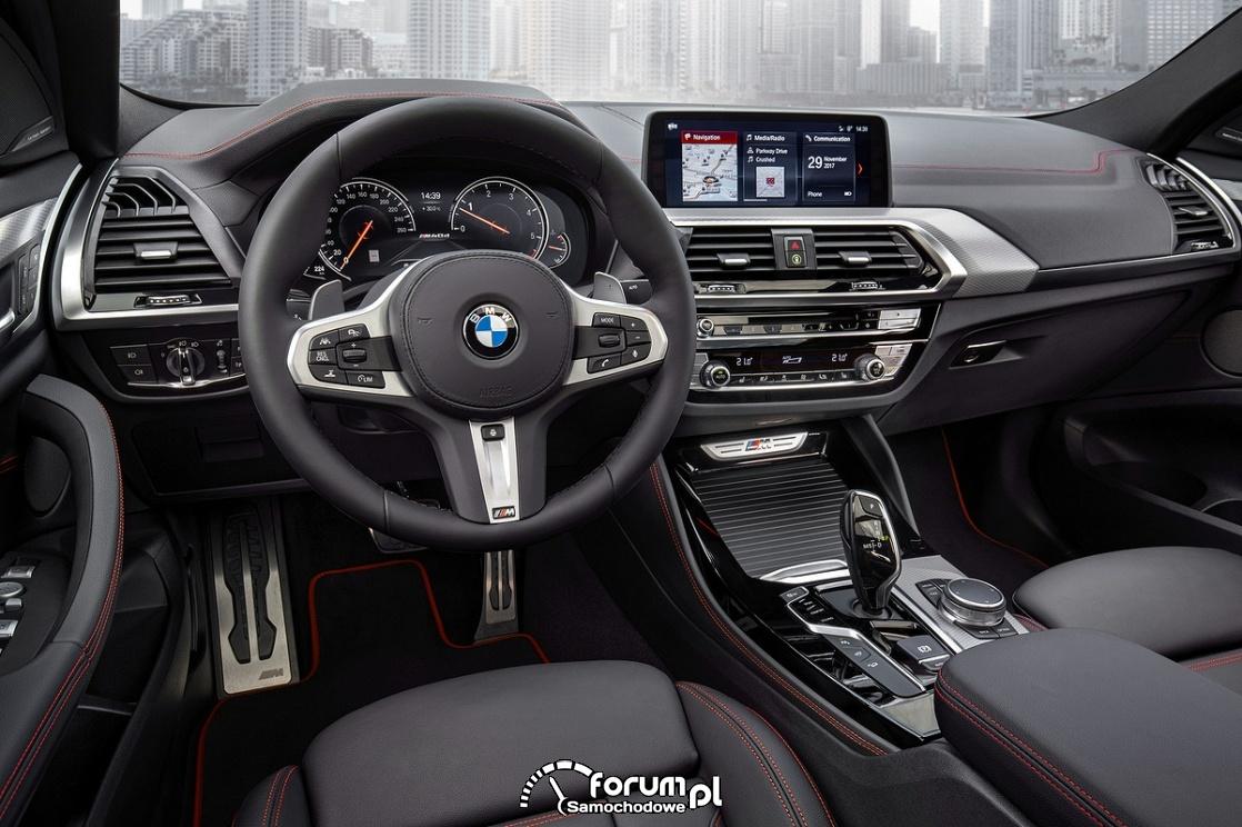 BMW X4 M40d, wnętrze