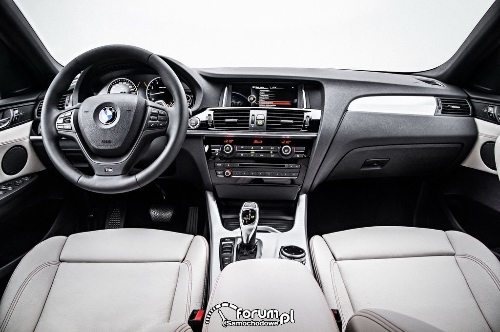 BMW X4, wnętrze, deska rozdzielcza