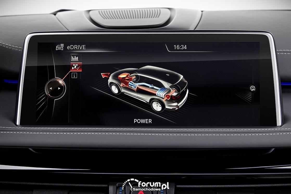 BMW X5 xDrive40e, wyświetlacz SAVE battery