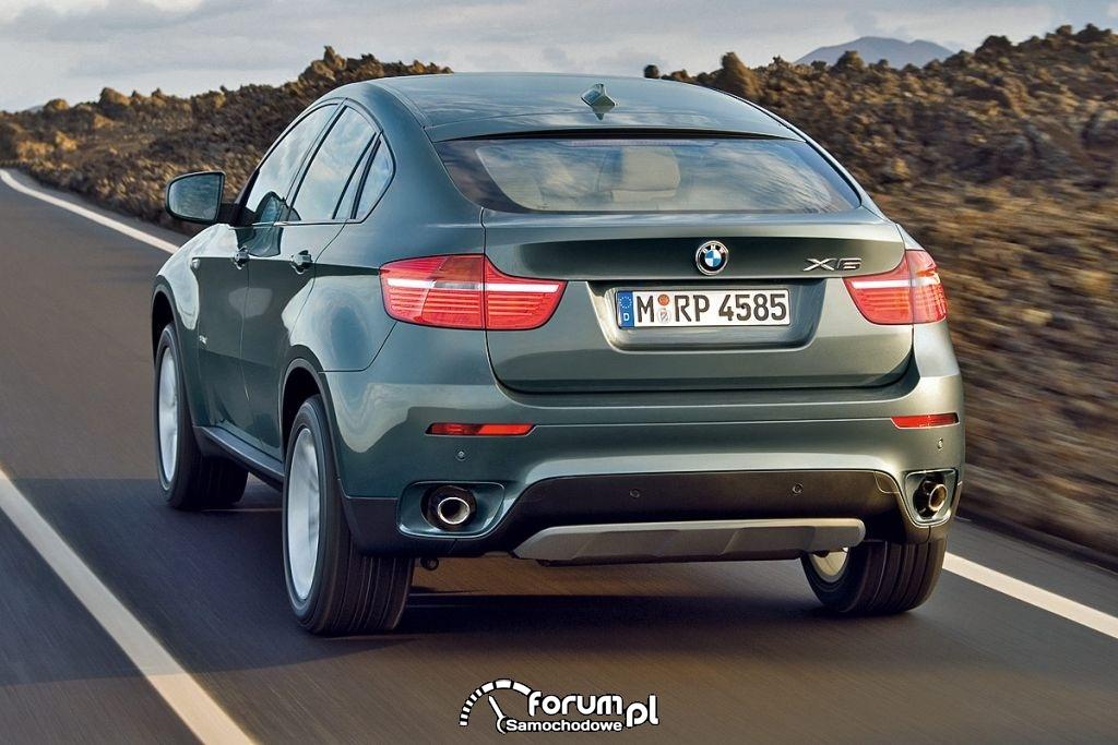 BMW X6 z tyłu