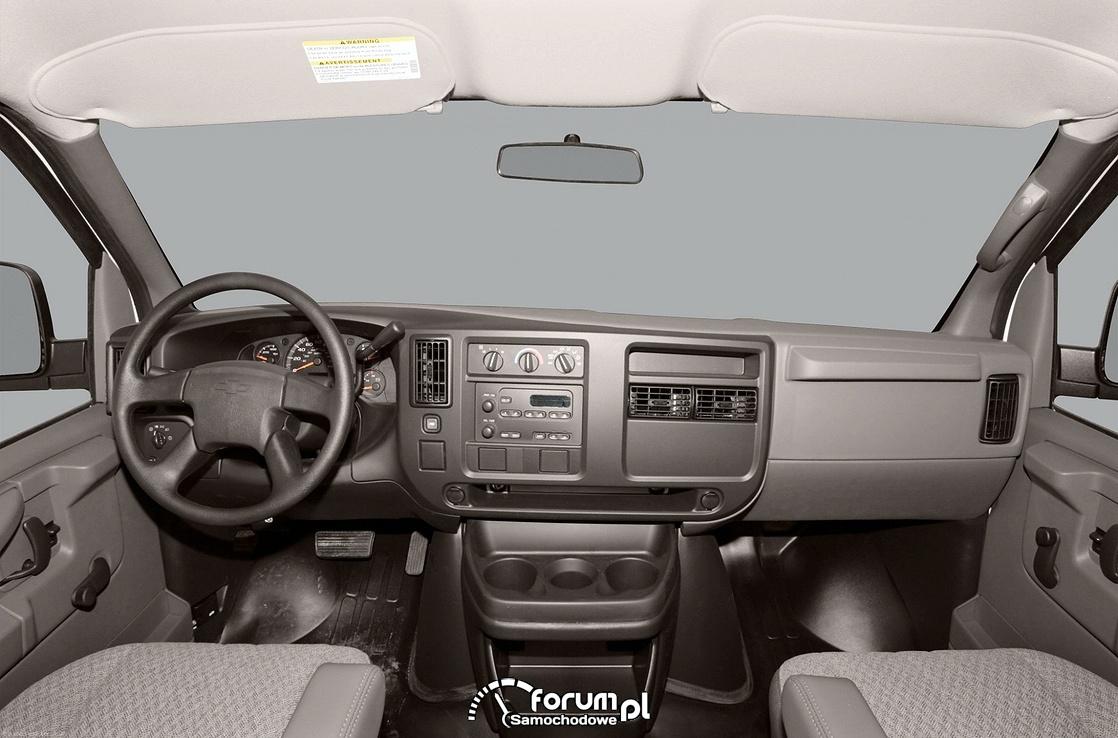 Chevrolet Express, wnętrze, deska rozdzielcza