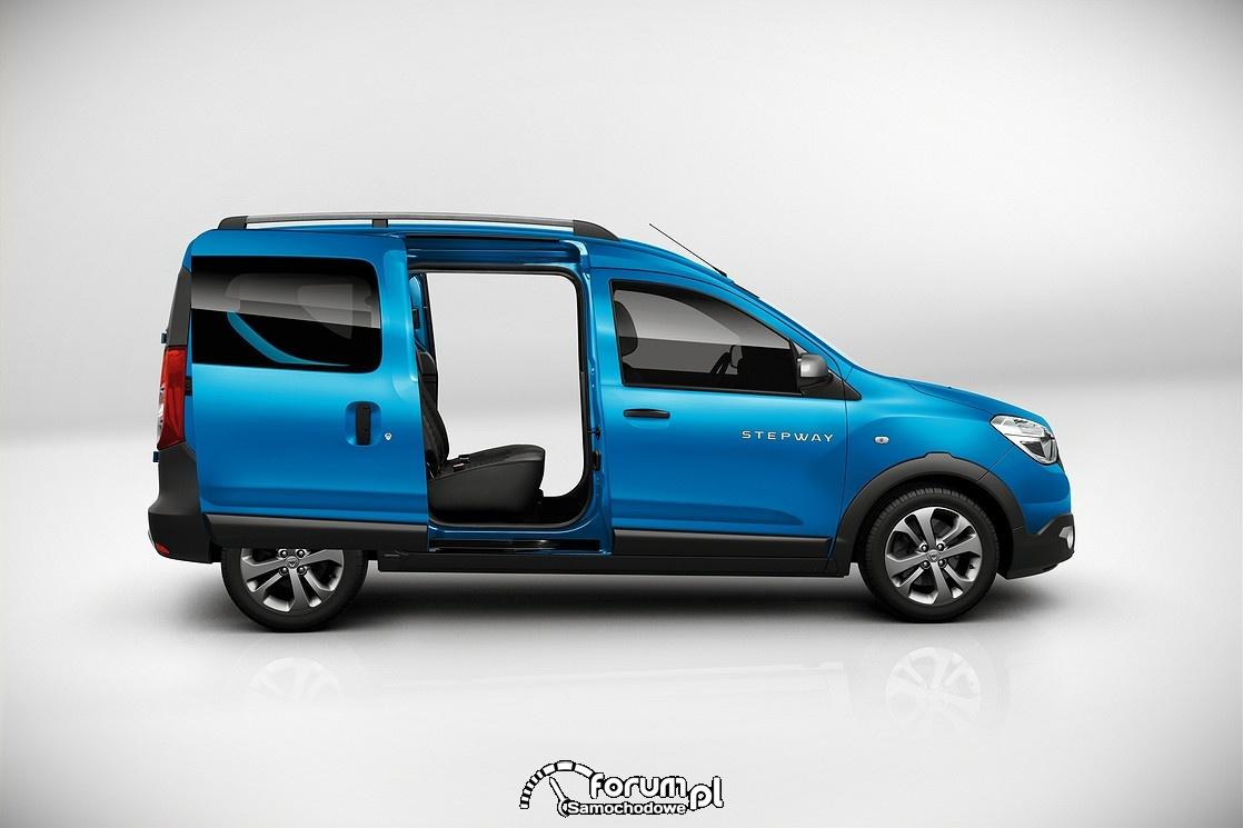 Dacia Dokker Stepway, przesówne tylne drzwi