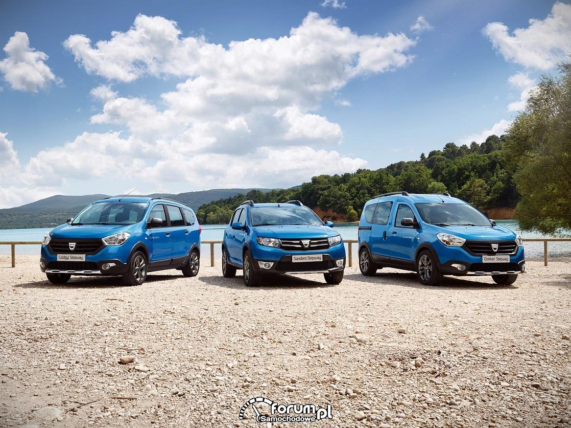Dacia - rodzina samochodów Stepway, Dokker, Sandero, Lodgy