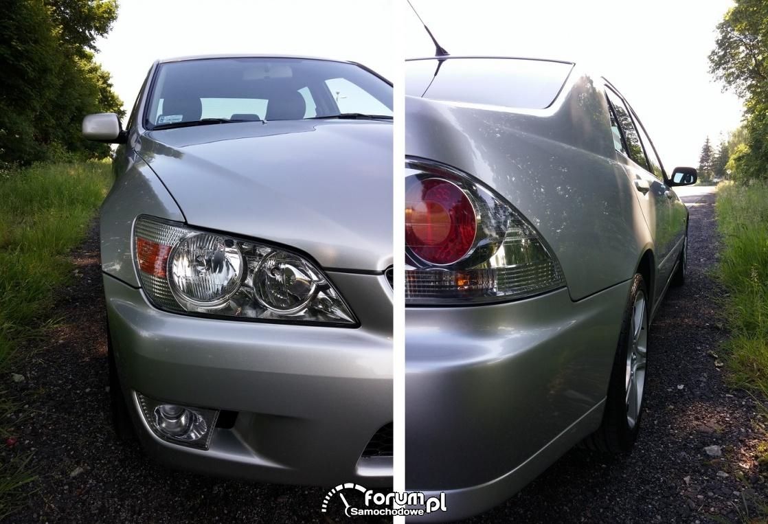 Lexus IS 200, przód - tył prawy bok