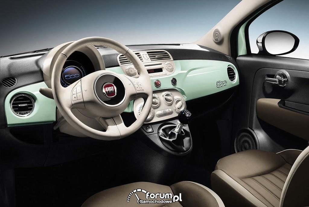 Bardzo dobra Fiat 500 Cult, wnętrze, deska rozdzielcza zdjęcie : Galeria Fiat HL91