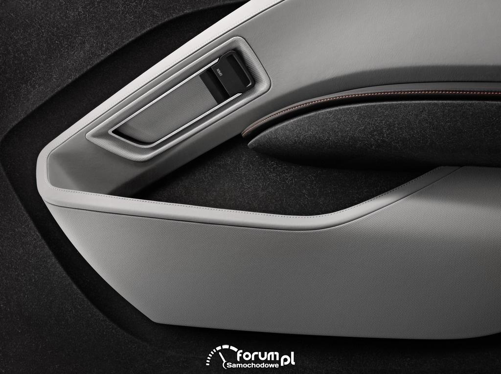 BMW i3 Concept Coupe, kieszeń w drzwiach i otwieranie