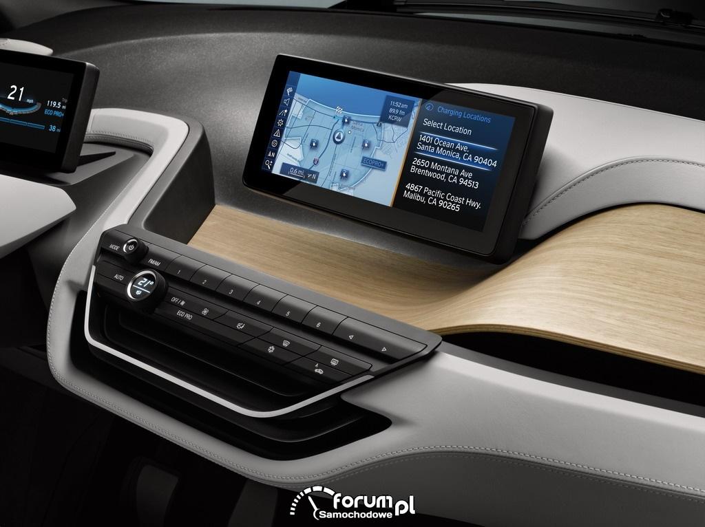 BMW i3 Concept Coupe, układ nawigacji