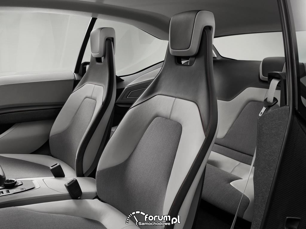 BMW i3 Concept Coupe, wnętrze, przednie fotele