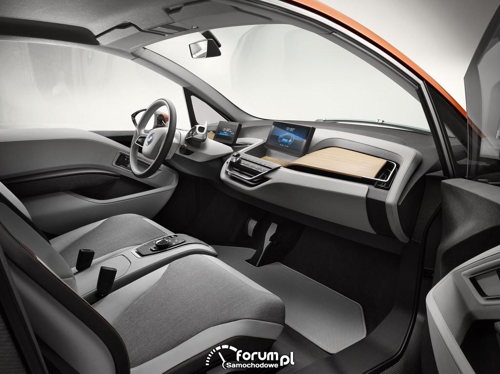 BMW i3 Concept Coupe, wnętrze, przód