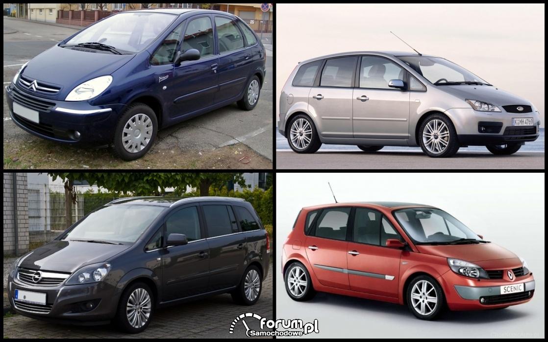 Citroen Xsara Picasso, Ford C-Max, Opel Zafira B, Renault Scenic II