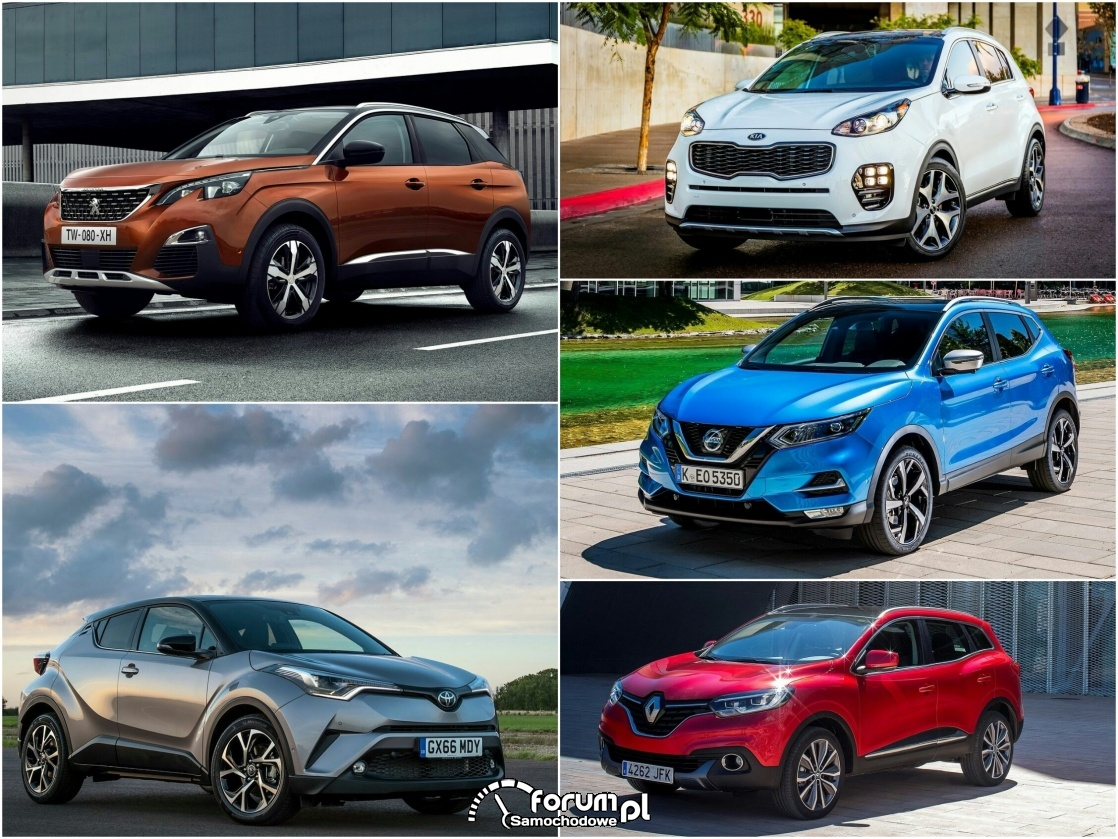 Kompaktowe crossovery - większa popularność i ciekawy styl