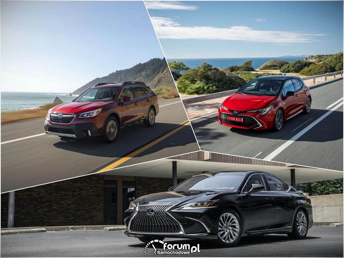 Lexus, Toyota i Subaru