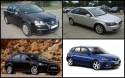 Mazda 3 I, Mitsubishi Lancer VIII, Volvo S40 II, VW Jetta A5