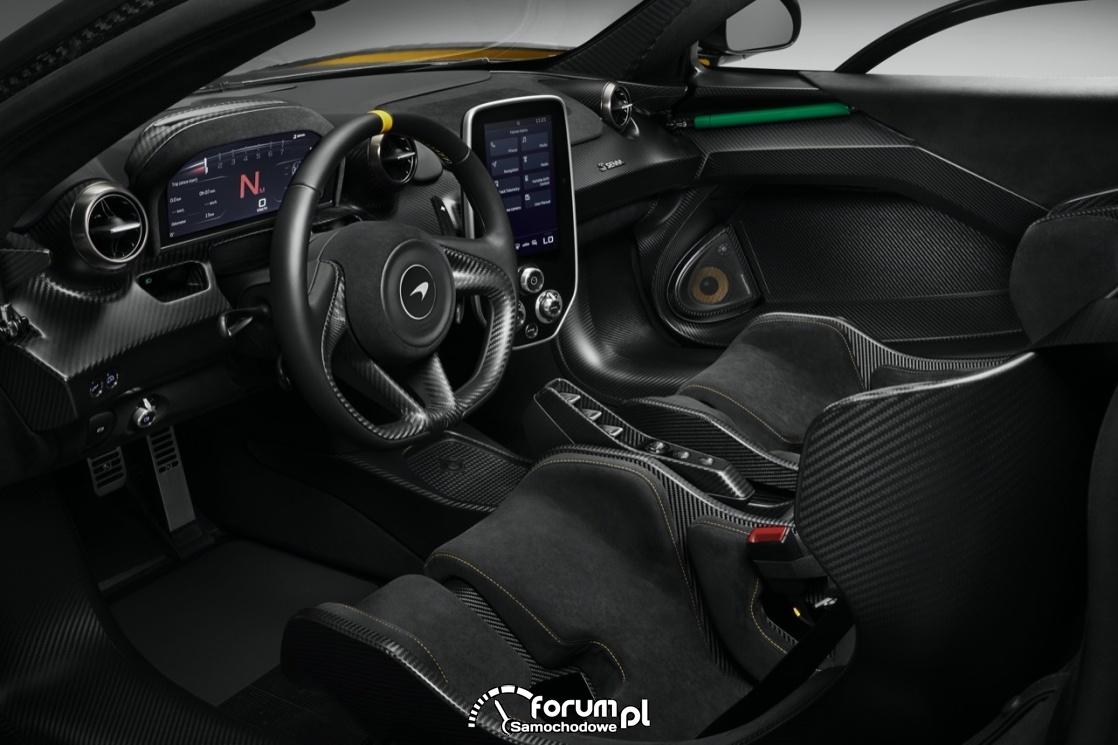 McLaren Senna - carbon we wnętrzu