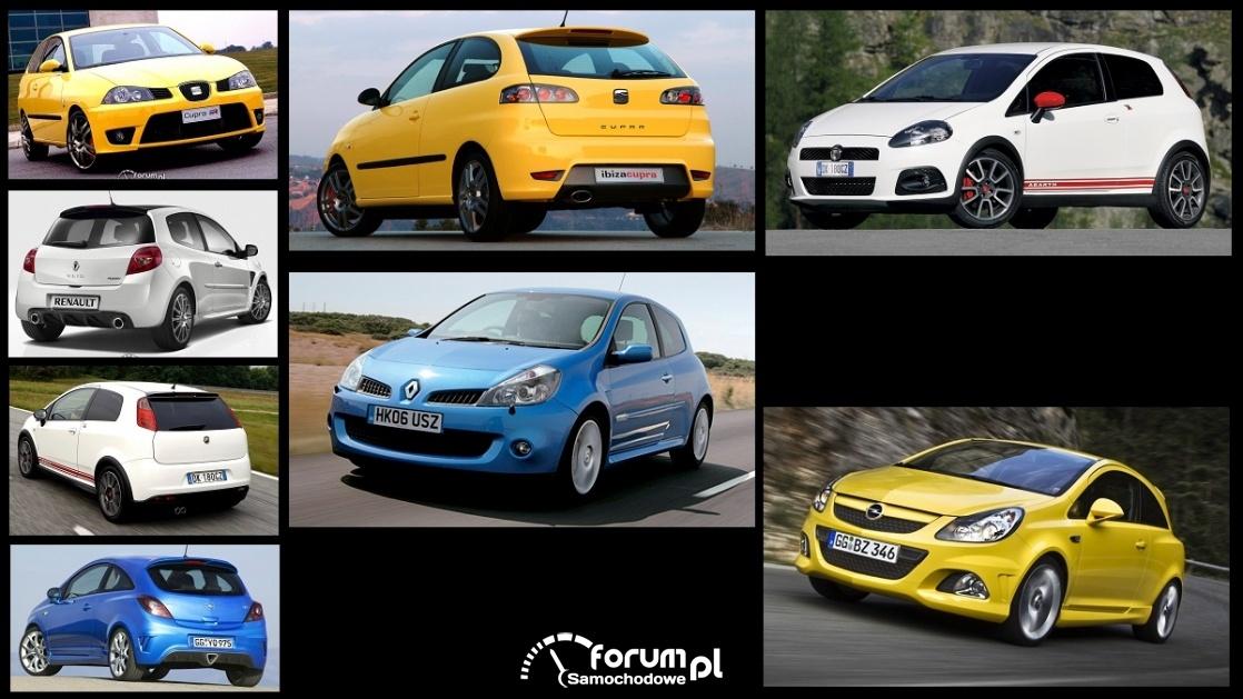 Porównanie: Abarth Gande Punto, Opel Corsa D OPC, Renault Clio III RS, Seat Ibiza III Cupra