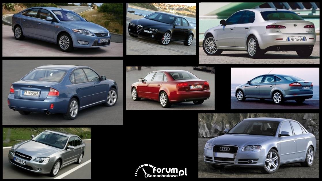 Porównanie: Alfa Romeo 159, Audi A4 B7, Ford Mondeo mk4, Subaru Legacy IV