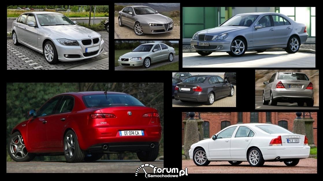 Porównanie: Alfa Romeo 159, BMW 3 e90, Mercedes C w203, Volvo S60 I