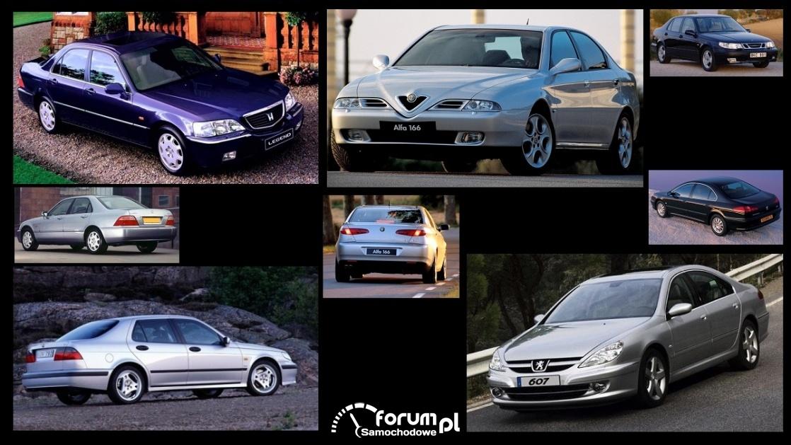 Porównanie: Alfa Romeo 166, Honda Legend III, Peugeot 607, Saab 9-5