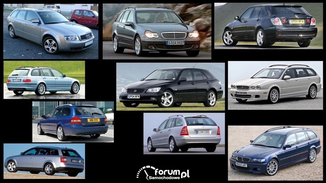 Porównanie: Audi A4 B6, BMW Serii 3 e46, Jaguar X-Type, Lexus IS mk1, Mercedes C-klasa s203