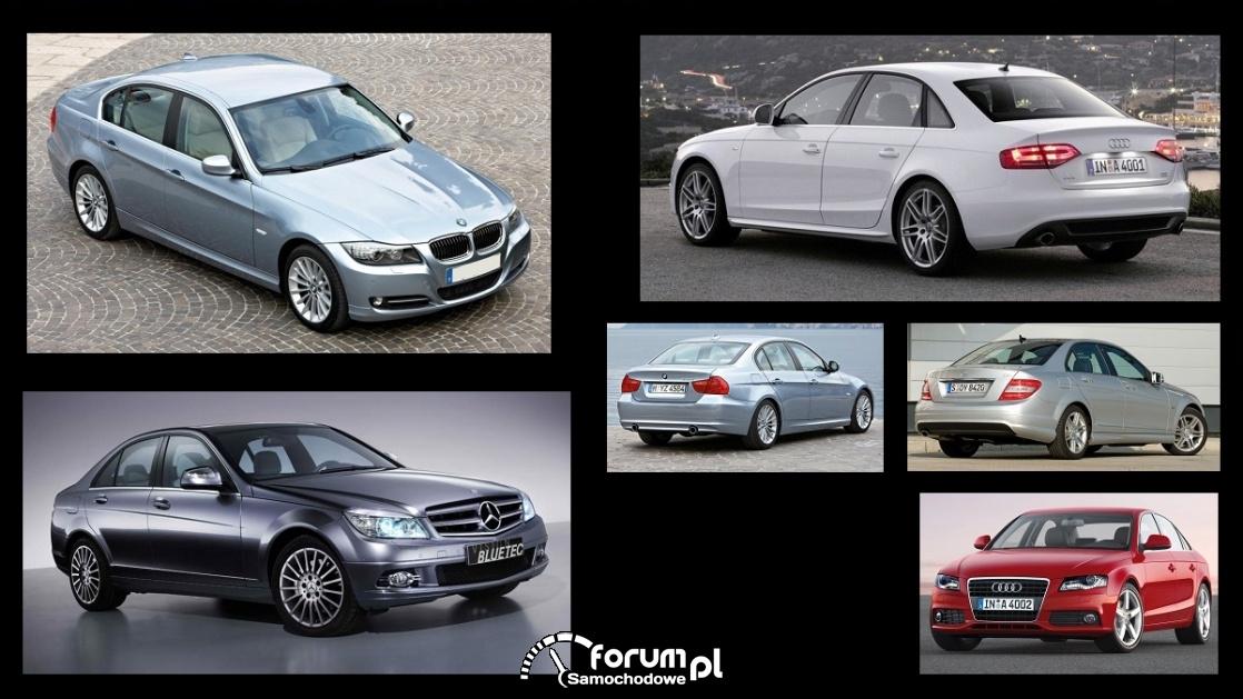Porównanie: Audi A4 B8, BMW 3 e90, Mercedes C w204