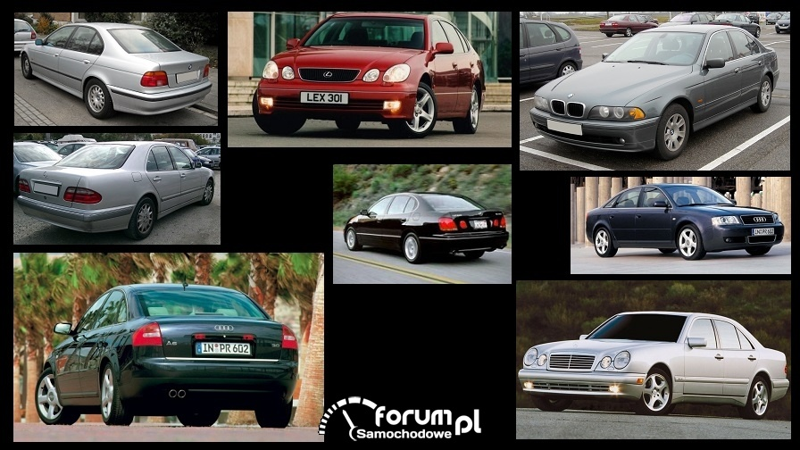 Porównanie: Audi A6 C5, BMW 5 e39, Lexus GS 300 mk2, Mercedes E w210