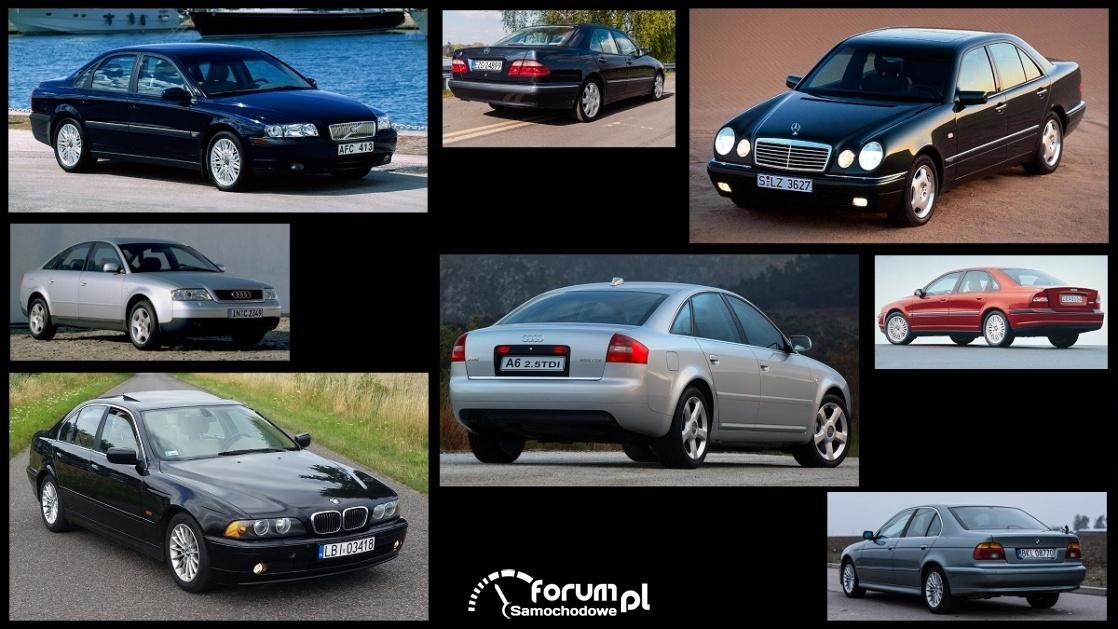 Porównanie: Audi A6 C5, BMW Serii 5 e39, Mercedes E-klasa w210, Volvo S80 I